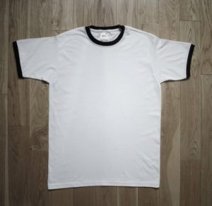 T-Shirt Fruit of the Loom Man White Ringer