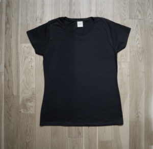 T-Shirt Fruit of the Loom Woman Black