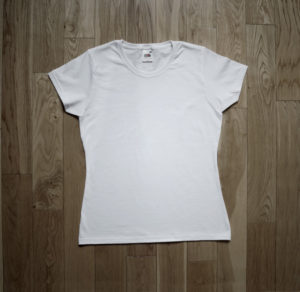 T-Shirt Fruit of the Loom Woman White