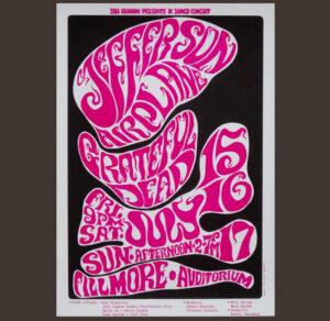 Jefferson Airplane Wes Wilson Fillmore Auditorium 1966 T-Shirt