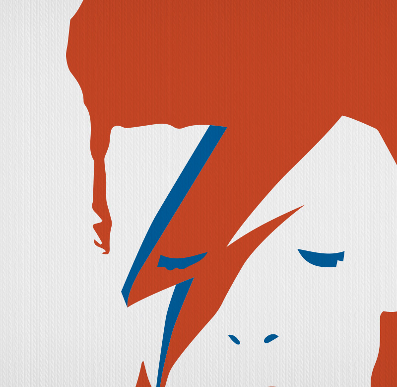 David Bowie Ziggy Stardust T-Shirt Glam Aladdin Sane Bolt