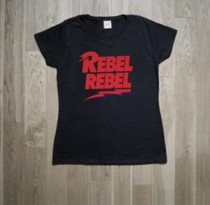 David Bowie Rebel Rebel T-Shirt Glam Diamond Dogs