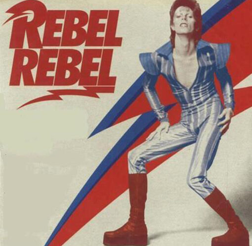 David Bowie Rebel Rebel T-Shirt Glam Diamond Dogs