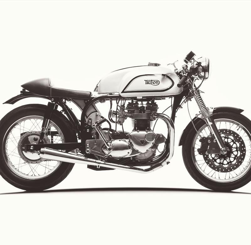 Tee Shirt CAFE RACER Speed Demon Vintage Motorcycle Norton Triumph Race