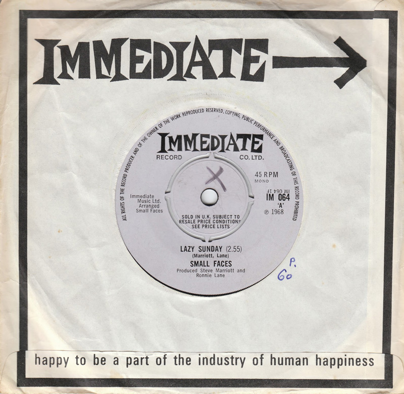 Immediate Recods Mod 60s sixties Small Faces