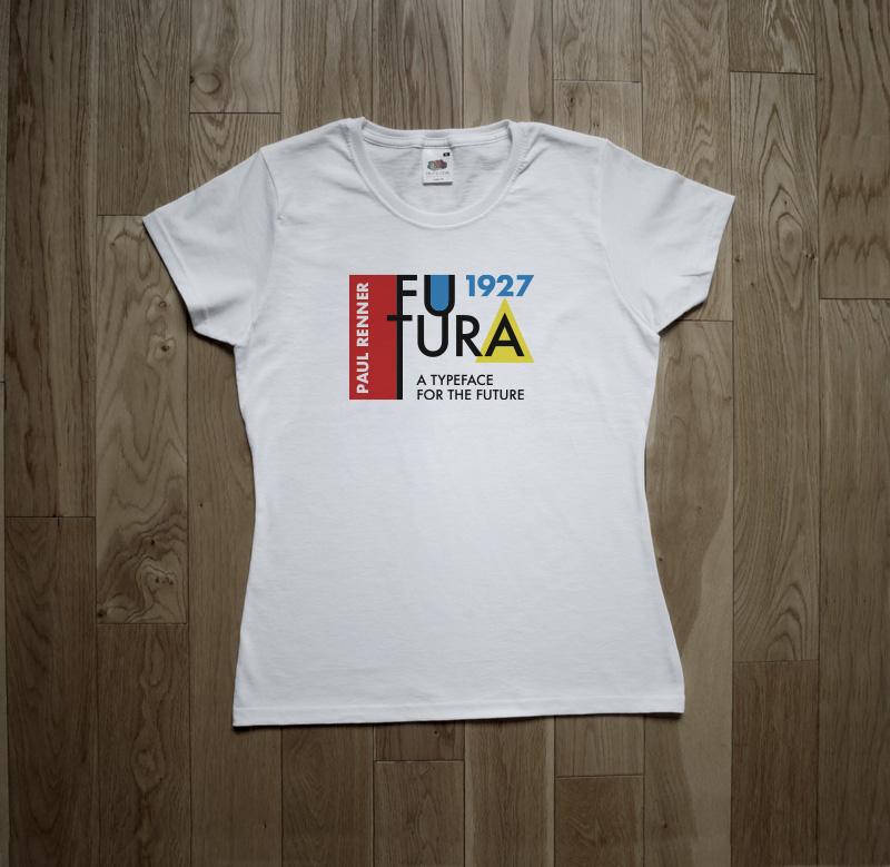 Futura Typeface Paul Renner Typography Font Bauhaus T-shirt