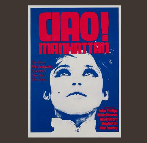 Edie Sedgwick Ciao! Manhattan Warhol Velvet Undergorund Poster