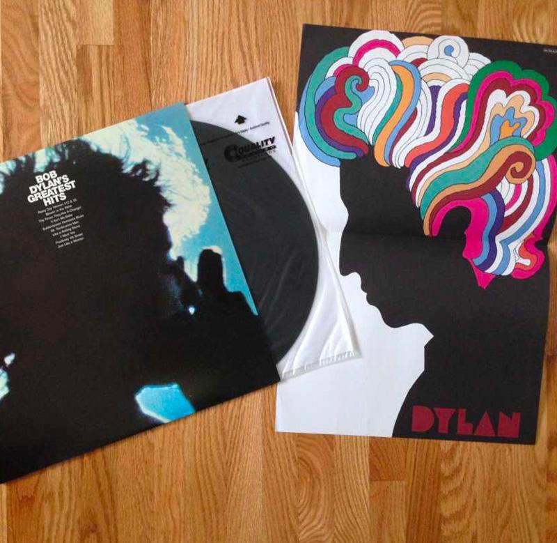 Bob Dylan Psychedelic Milton Glaser Mad Men Poster