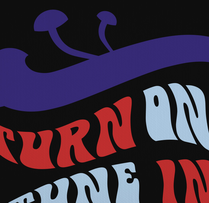 Turn on tune in drop out LSD Timothy Leary Acid Trip Hippie T-Shirt