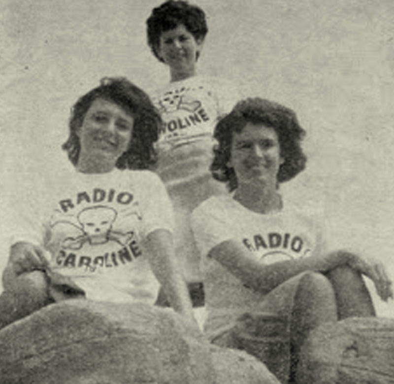 Radio Caroline Sixties Mod Beat Rock Skull