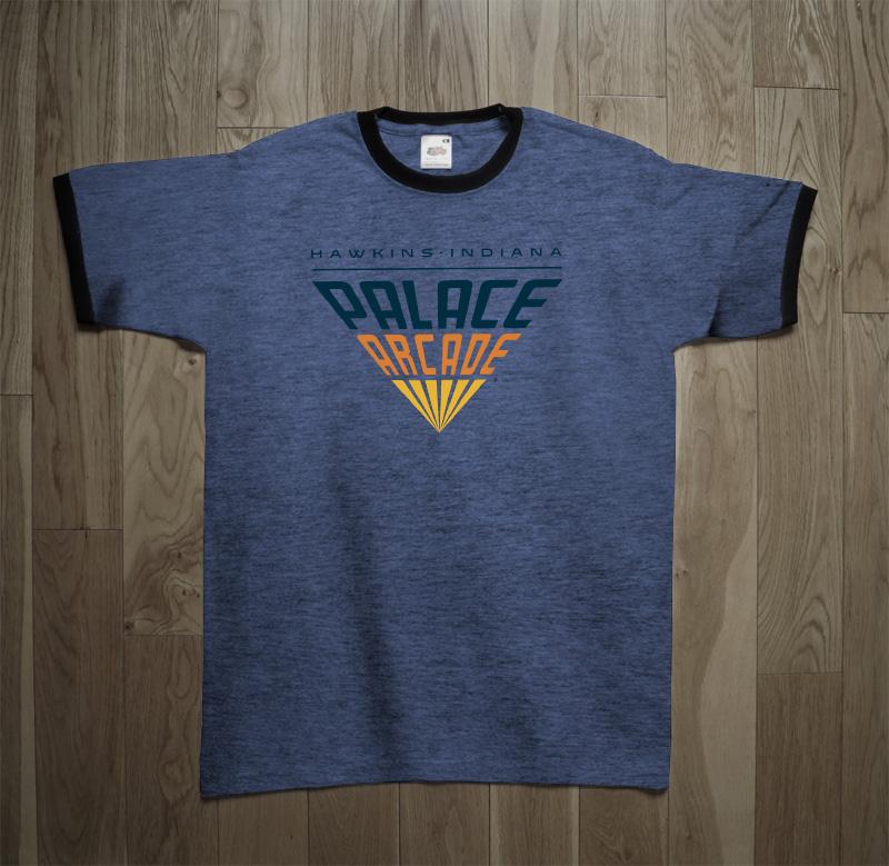 024e5a3f5d2b Stranger Things Palace Arcade Videogames T-Shirt