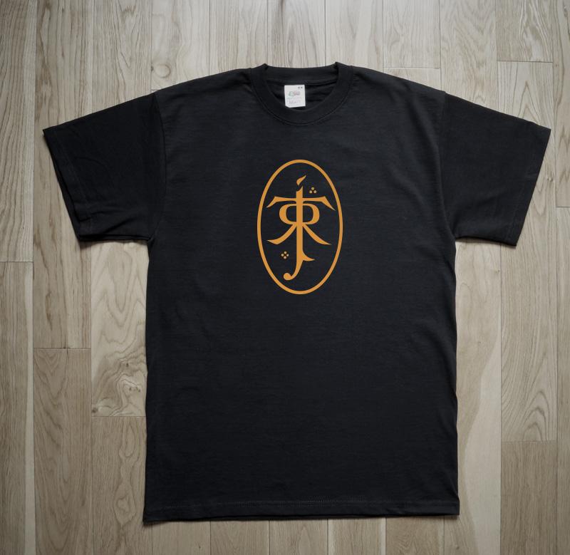 Tolkien Logo Monogram Lord Rings Middle Earth LOTR Hobbit T-Shirt
